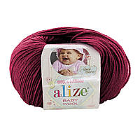 Alize Baby Wool №390 вишневый