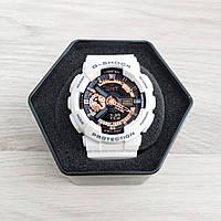 Часы наручные мужские спортивные Casio GA-110 White-Black-Cuprum