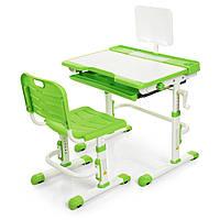 Парта ученическая детская Bambi M 3111(2)-5 Зеленый | Комплект растущая парта и стул