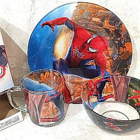 Набір дитячий для хлопчиків Людина-павук 3 предмети