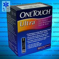 Тест-полоски для глюкометра оригинальные One Touch Ultra / Ван Тач Ультра 50 шт.