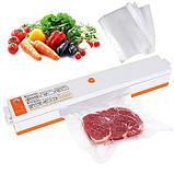 Вакууматор, Вакуумний пакувальник ручної продуктів Freshpack Pro, Побутові вакуумні пакувальники для будинку, фото 2