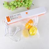 Вакууматор, Вакуумний пакувальник ручної продуктів Freshpack Pro, Побутові вакуумні пакувальники для будинку, фото 3