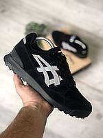 Чоловічі кросівки Asics Gel Lyte Silver Чорні, Репліка