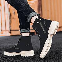 Черные мужские ботинки Martin в британском стиле, фото 1