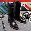 Martin, чоловічі черевики, чорні довгі чоботи, чоловічі лицарські чоботи