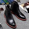 Чорні чоловічі черевики Martin, військові черевики, модна шкіряна взуття,