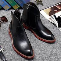 Чорні чоловічі черевики Martin, військові черевики, модна шкіряна взуття,, фото 1