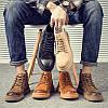 Чоловічі черевики Martin з високим берцем, повсякденне чоловіче взуття в британському стилі, шкіряна осінньо-зимова універсальна чоловіча взуття з середнім