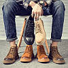 Мужские ботинки Martin с высоким берцем, повседневная мужская обувь в британском стиле, кожаная осенне-зимняя универсальная мужская обувь со средним