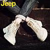 Ботинки JEEP Martin, мужская обувь на высоком каблуке, зимние ботинки в британском стиле, мужская обувь, кожаные рабочие ботинки, модная осенняя обувь