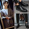 Черевики Челсі, чоловічі високі черевики в британському стилі, дихаючі чорні черевики Martin