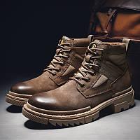 Мужские ботинки на толстой подошве, ботинки Martin, фото 1