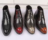 Чоловічі шкіряні туфлі з гострим носком, дихаючі черевики Martin, повсякденна шкіряне взуття, модні черевики, фото 1
