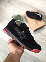 Чоловічі кросівки Asics Gel Lyte Black Red Чорні, Репліка