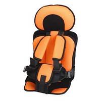 Универсальное бескаркасное автокресло Oxgift для детей Оранжевый (hub_AZFi14123)