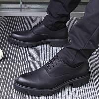 Взуття чоловіча модна з гострим носком на шнурівці посилена ,чоловічі черевики, фото 1