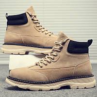 Мужские ботинки , дышащие в стиле ретро  мужская обувь в британском стиле, высокие мужские сапоги, фото 1