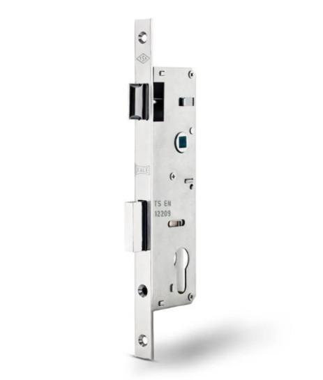 Замок металлопластиковых дверей KALE одноточечный (короткий) 192/p35 (16/35/92) с фалевой защелкой