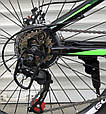 Подростковый спортивный горный велосипед TopRider 24 дюймов колеса 285 САЛАТОВЫЙ Горный велосипед ТОП РАЙДЕР, фото 5