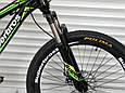 Подростковый спортивный горный велосипед TopRider 24 дюймов колеса 285 САЛАТОВЫЙ Горный велосипед ТОП РАЙДЕР, фото 8