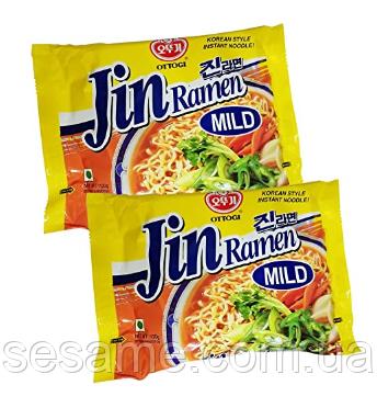 Корейская лапша Рамен Jin Ramen Mild Ottogi со вкусом грибов Оттоги 120g (Корея)