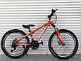 Подростковый спортивный горный велосипед TopRider 24 дюймов колеса 285 САЛАТОВЫЙ Горный велосипед ТОП РАЙДЕР, фото 3
