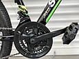 Подростковый спортивный горный велосипед TopRider 24 дюймов колеса 285 САЛАТОВЫЙ Горный велосипед ТОП РАЙДЕР, фото 9