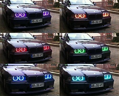Ангельські очки (4*127.5 мм ) для BMW E39 рестайлінг (2001-03) LED Cotton RGB
