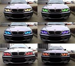 Ангельські очки (4*127.5 мм ) для BMW E39 рестайлінг (2001-03) LED Cotton RGB, фото 3