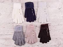 """Перчатки женские Шерсть """"Корона"""" Оптом 12 пар разные цвета"""