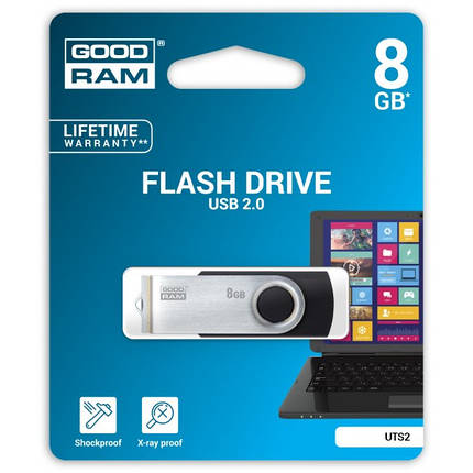 Флеш-накопитель USB  8GB GOODRAM UTS2 (Twister) Black (UTS2-0080K0R11), фото 2