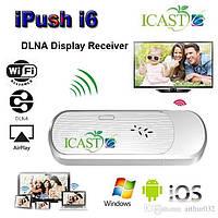 Вай фай передатчик для телевизора iCast i6, поддержка Miracast/Airplay/DLNA