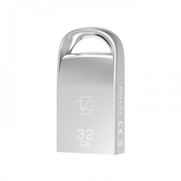 Флеш-накопитель USB3.0 32GB T&G 107 Metal Series Silver (TG107-32G3)
