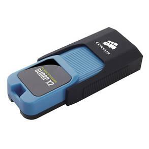 Флеш-накопитель USB3.0 64GB Corsair Flash Voyager Slider X2 Capless Design R310/W80MB/s Blue (CMFSL3X2A-64GB), фото 2