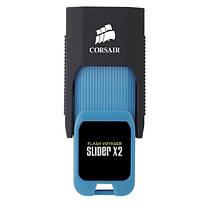 Флеш-накопитель USB3.0 64GB Corsair Flash Voyager Slider X2 Capless Design R310/W80MB/s Blue (CMFSL3X2A-64GB), фото 3