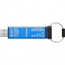 Флеш-накопитель USB3.0 64GB Kingston DataTraveler 2000 Keypad 256bit AES Hardware Encrypted (DT2000/64GB), фото 2