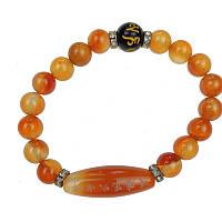 Браслет из камня оранжевый 18 см (С2219), фото 1