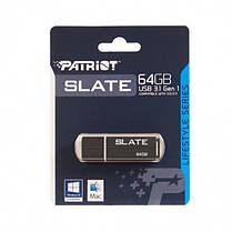 Флеш-накопитель USB3.1 64GB Patriot Slate Black (PSF64GLSS3USB), фото 2