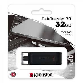 Флеш-накопитель USB3.2 32GB Type-C Kingston DataTraveler 70 Black (DT70/32GB), фото 2