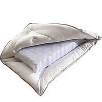 Ортопедическая подушка для сна с пружинным блоком 50х70 чехол 100% хлопок Крем Homeline