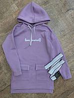 Підліткові сукні для дівчаток теплі з начосом, фото 1