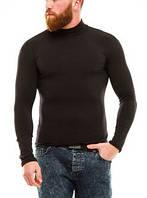 Гольф (водолазка) мужской, теплый, на флисе, черный