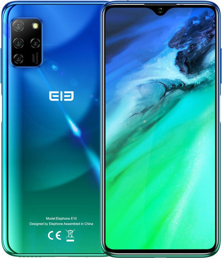 Смартфон Elephone E10 4/64Gb Aurora Blue (Global)