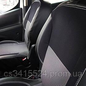 Автомобільні чохли в салон VOLKSWAGEN TRANSPORTER T5 1+1 2003- 2 підголівника; airbag (NIKA)
