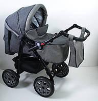 Детская универсальная коляска 2 в 1 Victoria Gold Viki Karina len Серая