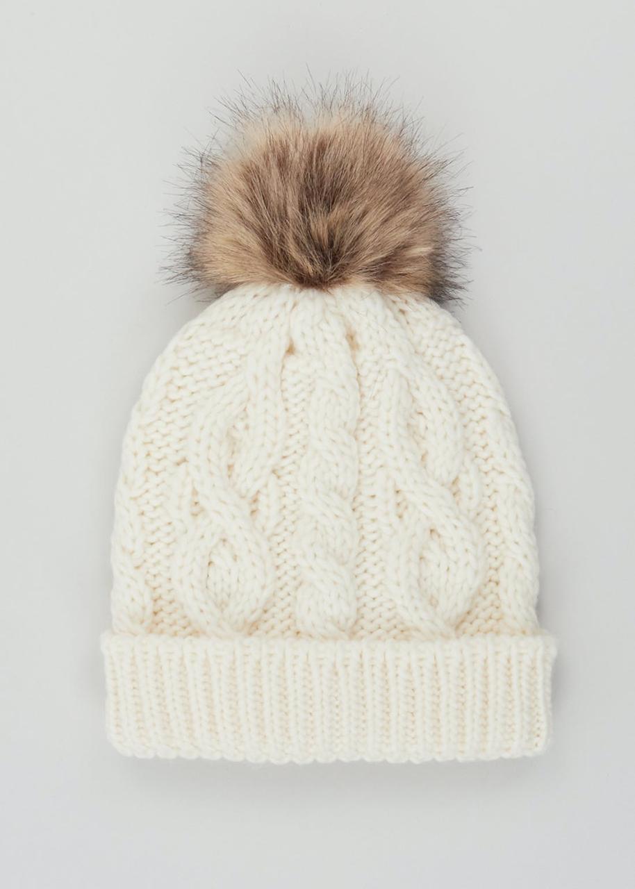 Теплая зимняя шапочка с помпоном Маталан для девочки