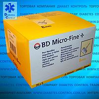 Иглы BD Microfine 8 мм 30G (0.30 мм) для инсулиновых шприц-ручек, 10 шт.