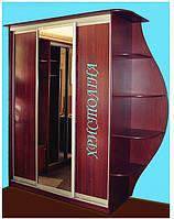 Шкаф купе с угловым сегментом зеркало