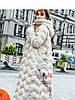 Жіночий пуховик в етнічному стилі,зимовий модний принт, довгий, великий розмір 3кол
